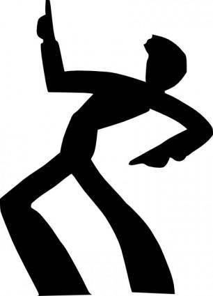 Dancing Man Silhouette clip art