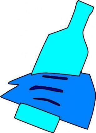 Hand Holding Bottle clip art