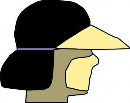 free vector Athelete Wearing Visor clip art