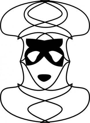 free vector Carnival Mask clip art