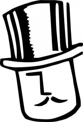 Cartoon Man Wearing Hat clip art