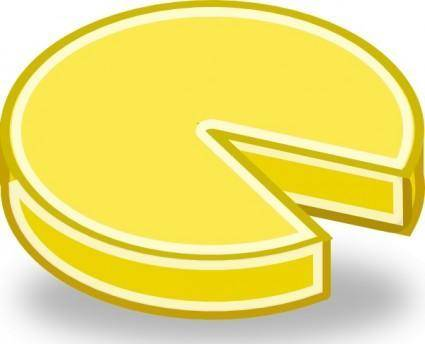 Tango Style Cheese Wheel clip art