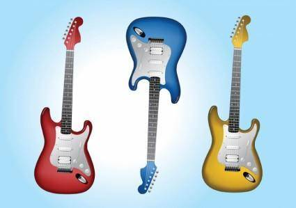 free vector Electric Guitars