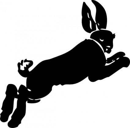 Running Rabbit clip art
