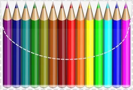 Colouring Pencils clip art
