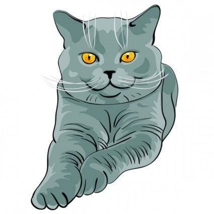 Animal cat 02 vector