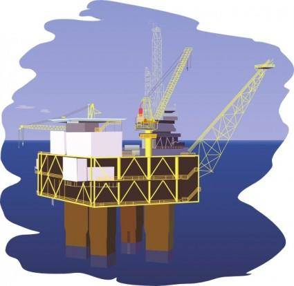 free vector Oil Rig clip art