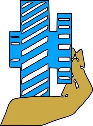 Hand Holding Gear clip art