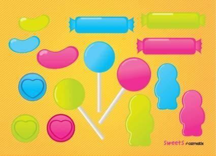 free vector Lollipop Sweets Candy