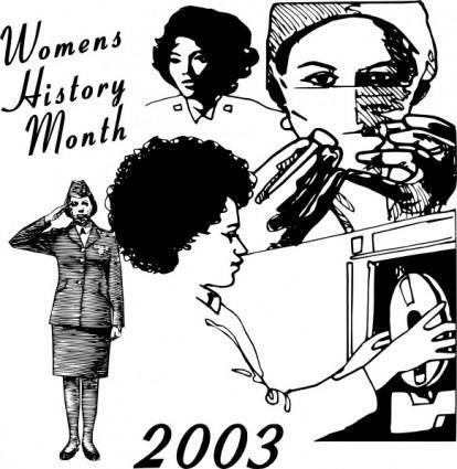 free vector Women History Month clip art