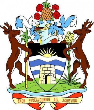 Coat Of Arms Of Antigua And Barbuda clip art