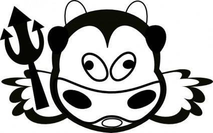 free vector Evil Cow clip art