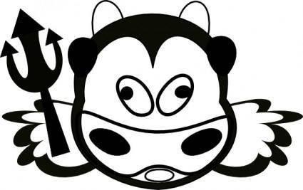 free vector Evil Cow clip art