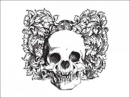 free vector Floral Skull Vector Illustration