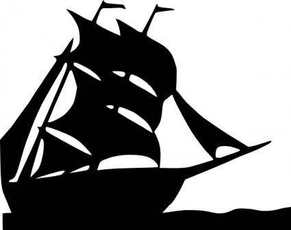 free vector Sailing Boat Silhouette clip art