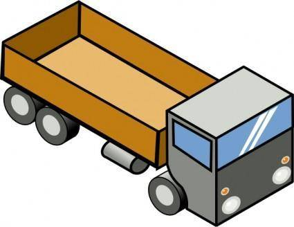 Isometric Truck clip art