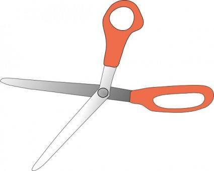 Scissors Wide Open clip art