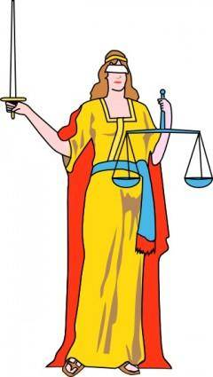 Lady Blind Justice clip art