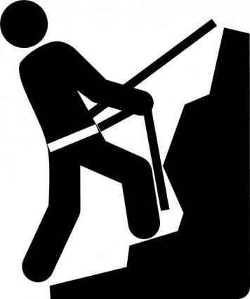 free vector Climber Rappelling clip art