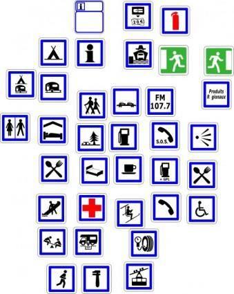 Information Symbols Signs clip art
