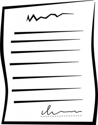 Signed Document Offer clip art