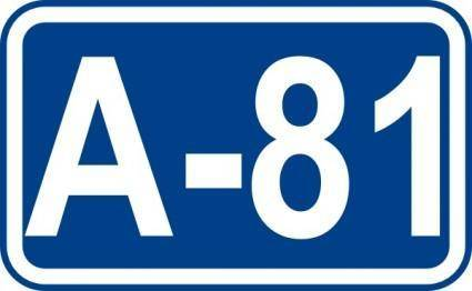 free vector Highway A81 Sign clip art
