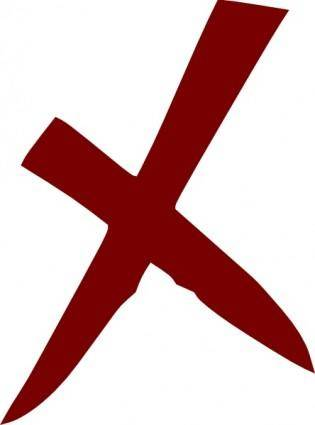 X Wrong No Cross clip art