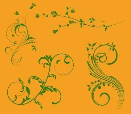 free vector Nature Scroll Ornaments
