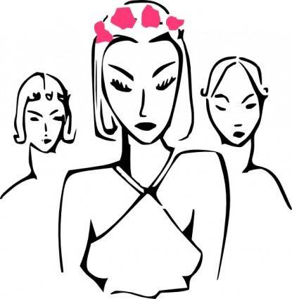 free vector Fashion Women clip art