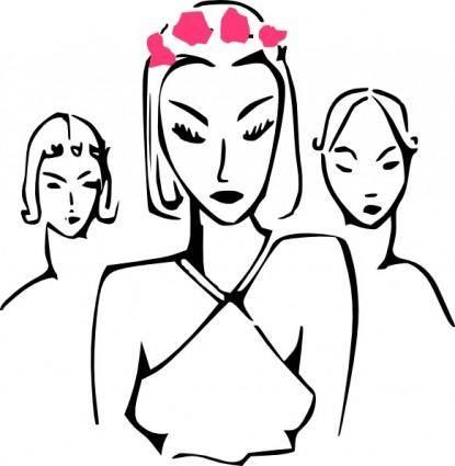 free vector Fashion Women clip art