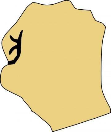 Closed Fist clip art