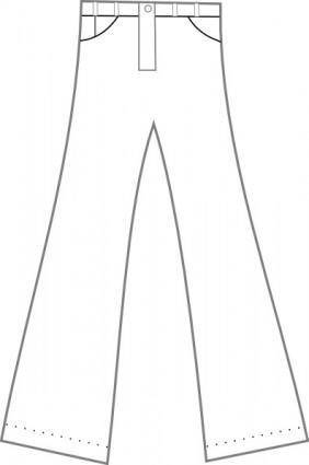 free vector Clothing Pants Outline clip art