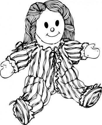 free vector Stuffed Doll clip art