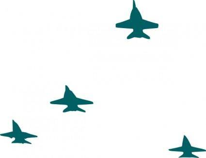 free vector Navy Planes Formation clip art