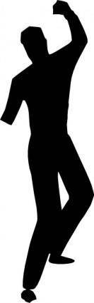 free vector Dancing Silhouette clip art