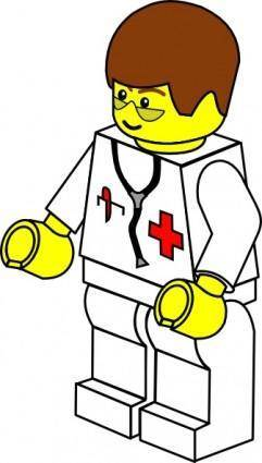 Pitr Lego Town Doctor clip art