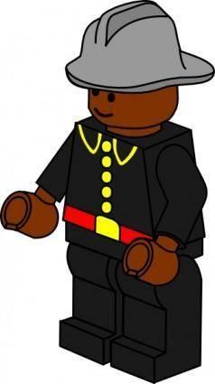 Pitr Lego Town Fireman clip art