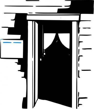 free vector House Home Door clip art