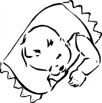 free vector Sleeping Baby clip art