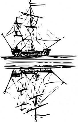 free vector Cibo Boat Reflection On Water clip art