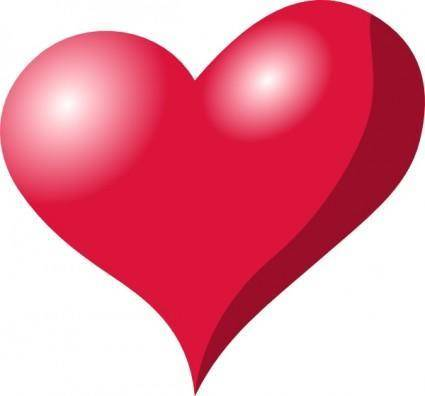 Red Heart Shadow clip art