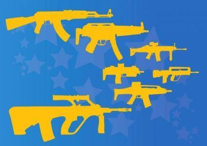 free vector Machine Guns and Rifles
