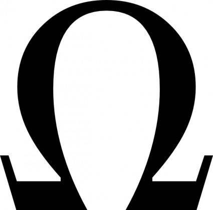 Greek Omega Small clip art