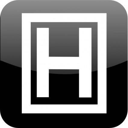free vector Letter H clip art