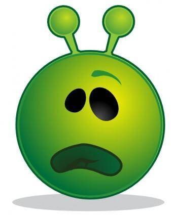 free vector Smiley Green Alien Whatface clip art