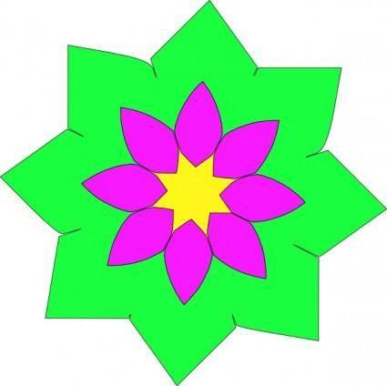 free vector Geometric Flower Shape clip art