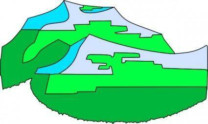 free vector Green Mountains clip art