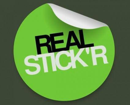 Green Sticker clip art