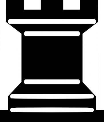 free vector Portablejim Chess Tile Rook clip art