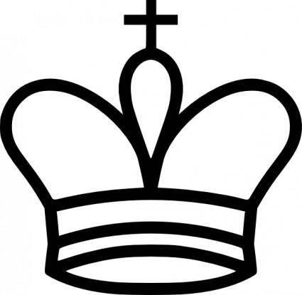 Portablejim Chess Tile King clip art
